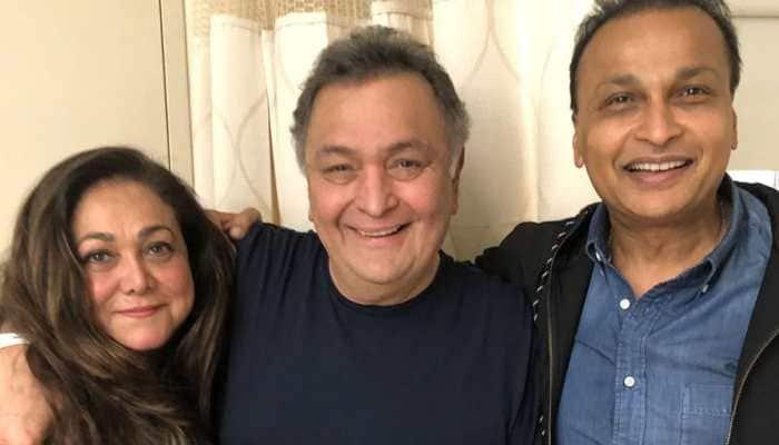 Anil, Tina Ambani meet Rishi Kapoor in New York