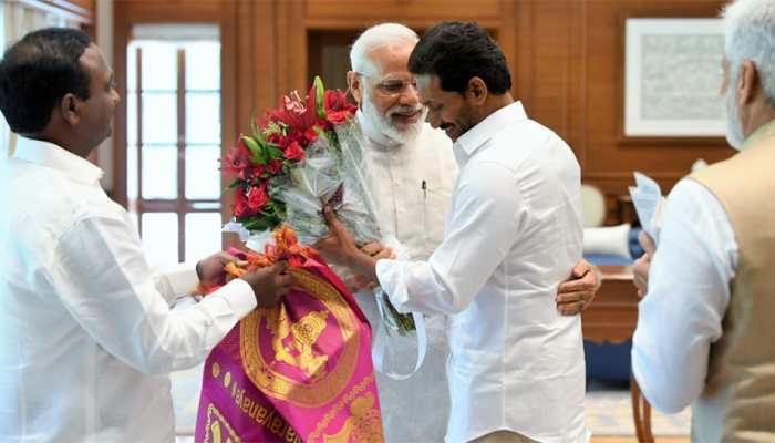 Before taking oath as Andhra Pradesh CM, Jaganmohan Reddy meets PM Narendra Modi in Delhi