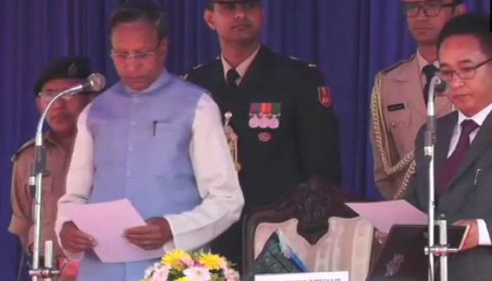 Prem Singh Tamang sworn-in as new Sikkim Chief Minister
