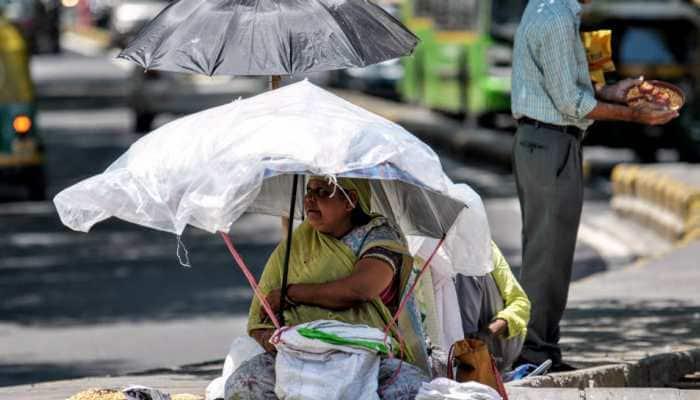 Sunny morning in Delhi, heat wave forecast