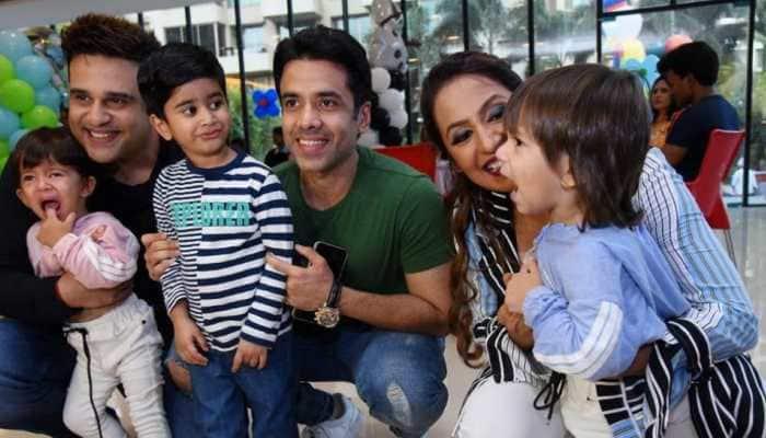 Krushna Abhishek and Kashmera Shah take us inside twins Krishaang, Rayaan's birthday party
