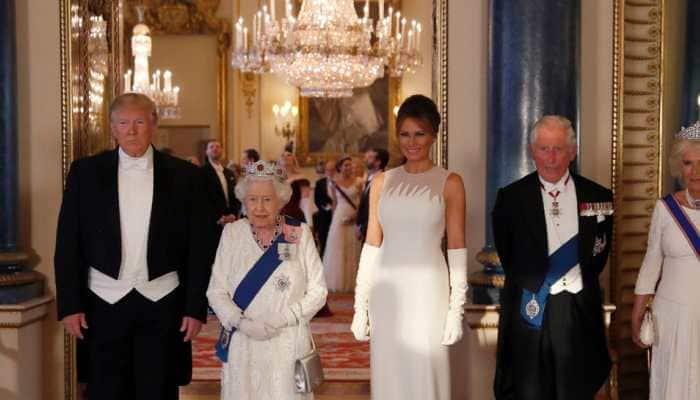 Melania comes to Donald Trump's rescue after Queen Elizabeth II asks him a question