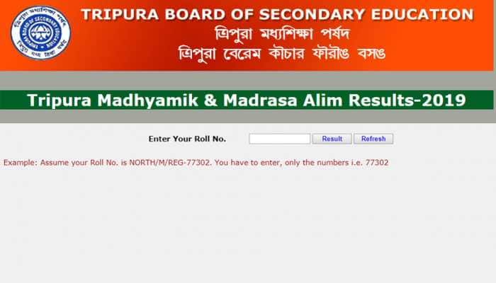 Tripura Madhyamik Result 2019 out: TBSE Class 10th Result 2019 declared at tbse.in