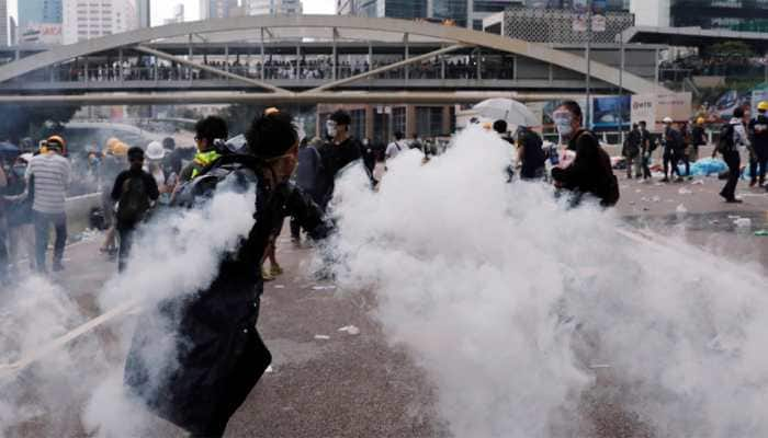 Hong Kong shuts offices for the week after worst-ever violence over extradition bill