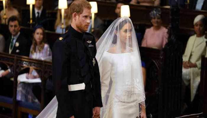 Meghan Markle's wedding dress on display in Scottish castle