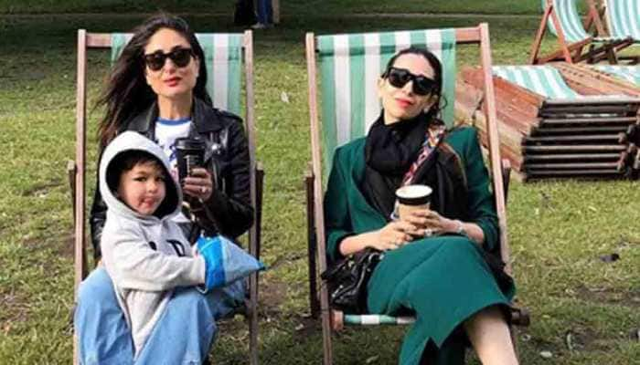 Kareena Kapoor spends a lazy day with sister Karisma, Taimur in London park — See pics