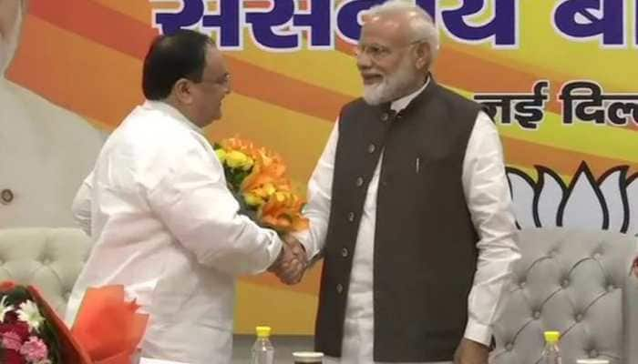 JP Nadda elected working president of BJP, Amit Shah to remain party chief
