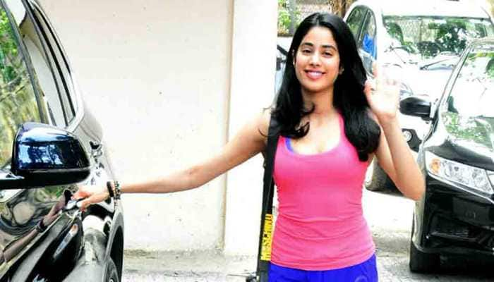 Janhvi Kapoor is all smiles as she gets papped outside her gym  — See photos