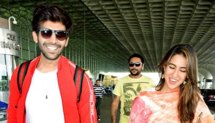 Sara Ali Khan and Kartik Aaryan, with their faces covered, take a stroll in Shimla - Pics inside