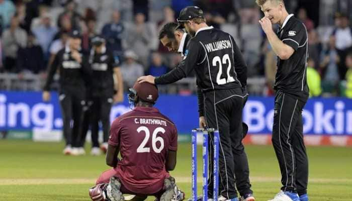 New Zealand players' fitting tribute to Carlos Brathwaite after bombastic ton is winning hearts