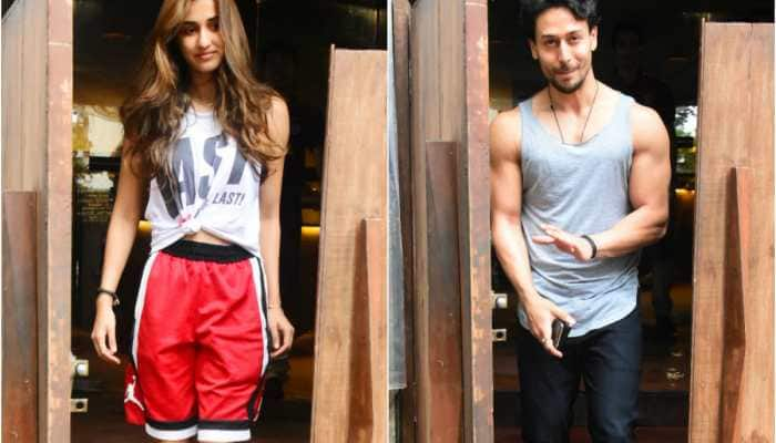 Disha Patani and Tiger Shroff catch up on a lunch date - Pics