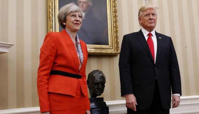 Trump blasts 'foolish' UK PM May and her 'wacky' envoy over leaked memos