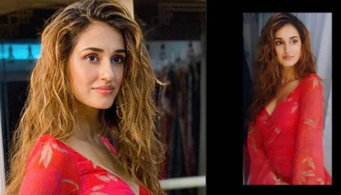 Disha Patani looks uber chic in an outfit with a plunging neckline—Pics