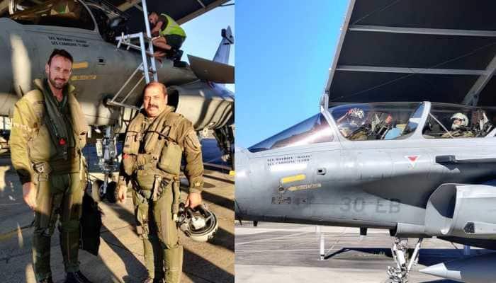 IAF Vice Chief Air Marshal RKS Bhadauria flies Rafale during Exercise Garuda 2019