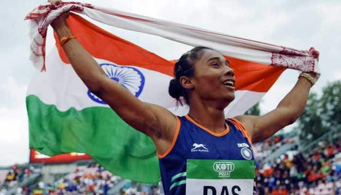 Hima Das sprints to 3rd international gold within two weeks