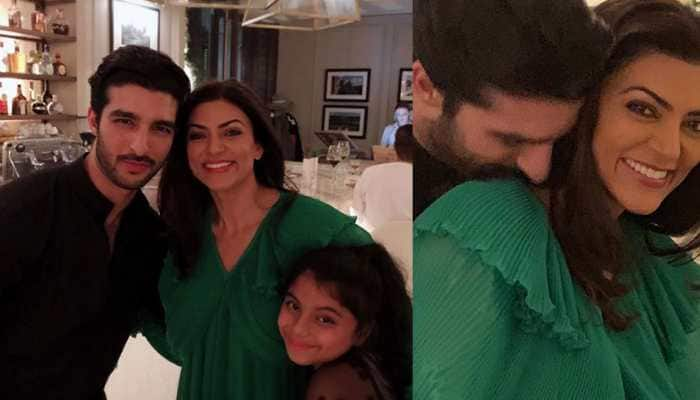 We fit: Sushmita Sen posts 'family selfie' with beau Rohman Shawl