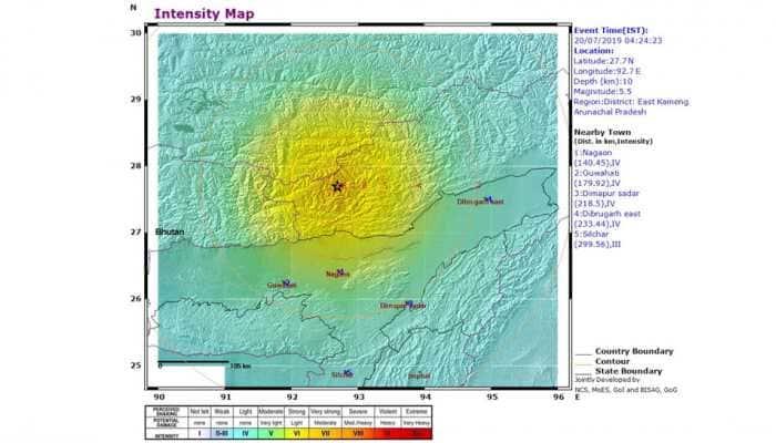 5.5-magnitude earthquake hits Arunachal Pradesh again; tremors felt in Assam, China