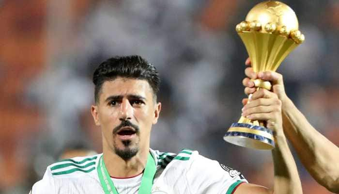 Algeria forward Baghdad Bounedjah's tears turn from despair to joy