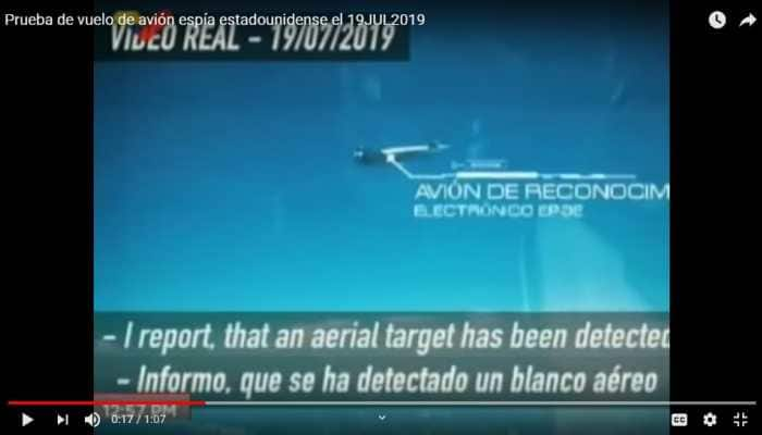 Venezuela releases video of its Sukhoi Su-30 tracking US EP-3E spy plane
