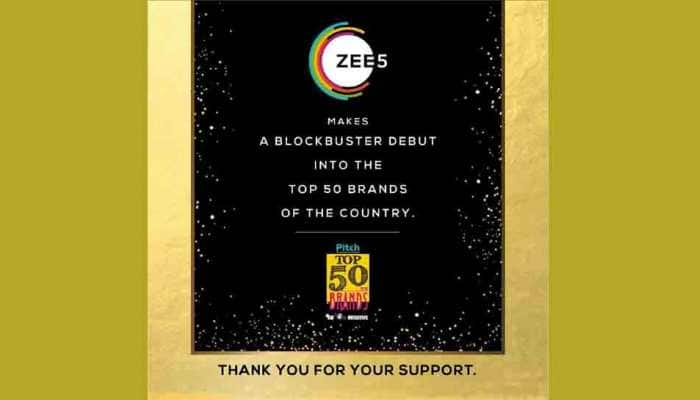 ZEE5 recognized by exchange4media Pitch Top 50 brands for its roaring entry into the industry