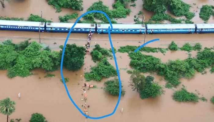 Watch: Incredible footage shows NDRF, Indian Navy rescuing stranded passengers from Mahalaxmi Express