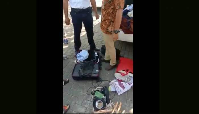 Indian travellers busted for stealing hotel items by staff in Bali, video goes viral