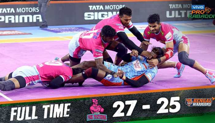 PKL 2019: Jaipur Pink Panthers beat Bengal Warriors in thriller