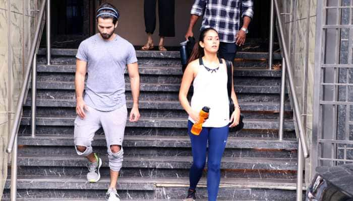 Shahid Kapoor and Mira Rajput's gym outing calls for attention! Pics