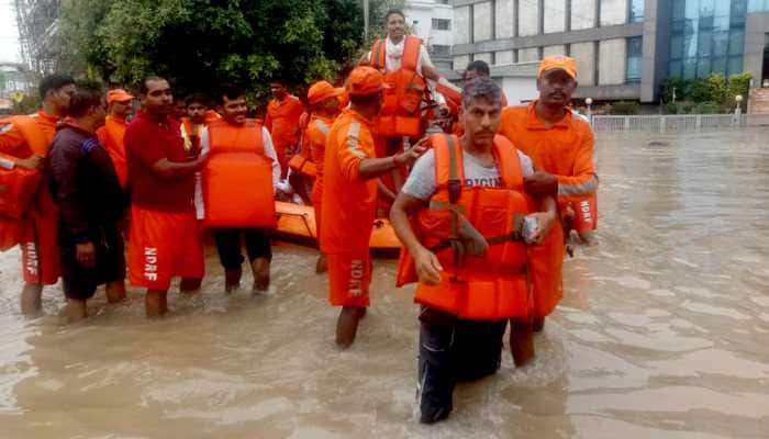 Heavy rainfall disrupts normal life in Gujarat's Vadodara; emergency helpline numbers issued