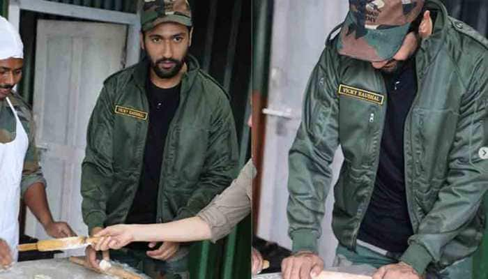 Vicky Kaushal turns chef for Indian Army, makes rotis — See pics