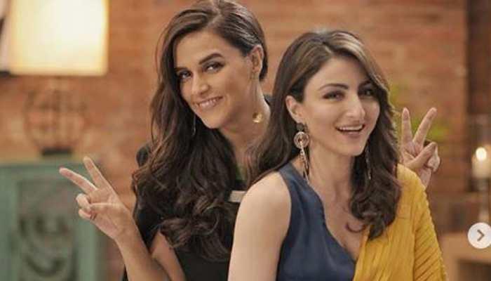 Neha Dhupia, Soha Ali Khan put fallout rumours to rest, share videos-Watch
