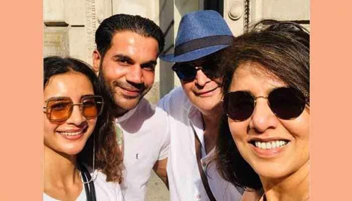 Rishi Kapoor, Neetu bump into Rajkummar Rao, Patralekha in New York — Here's what happened next