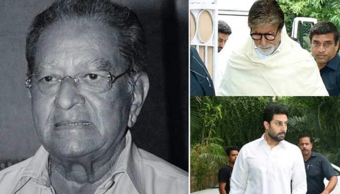 Amitabh Bachchan-Abhishek Bachchan visit J Om Prakash's residence, offer condolences to family—Pics