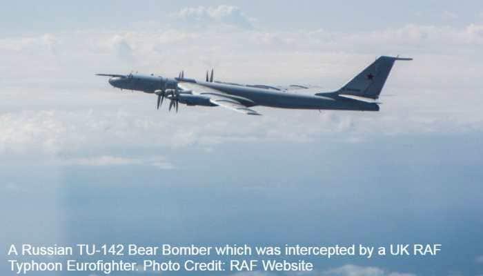 UK Typhoon Eurofighters intercept 5 Russian warplanes including Sukhoi Su-27B jets, TU-142 Bear Bomber near Estonia