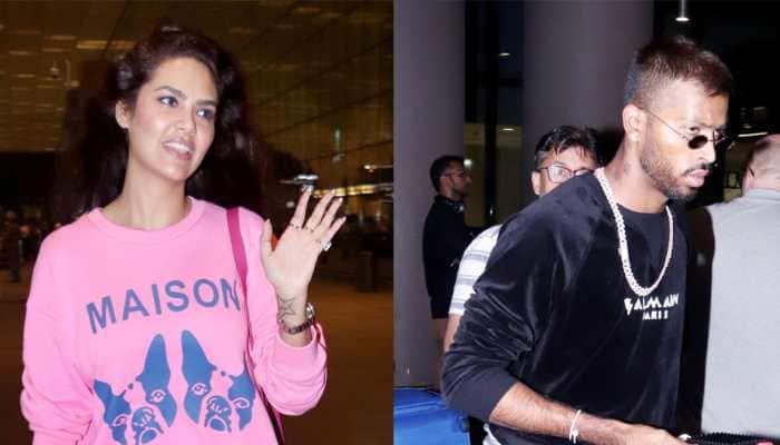 Airport diaries: Esha Gupta, Hardik Pandya turn heads in style! Pics