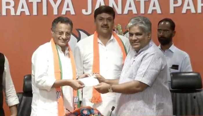 Former Samajwadi Party MPs Sanjay Seth, Surendra Nagar joined BJP