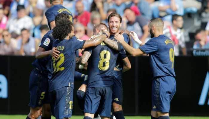 Toni Kroos helps Real Madrid defeat Celta Vigo but Luka Modric sees red