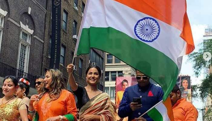 Hina Khan keeps tricolour flying high in US- See pics