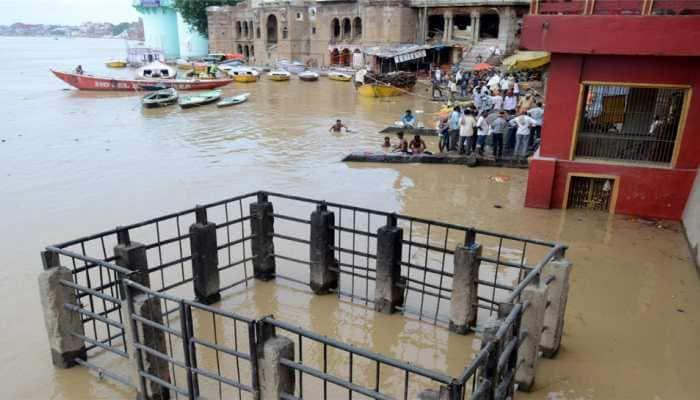 Ganga inundates Varanasi's ghats, cremations taking place in lanes