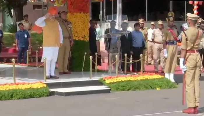 Home Minister Amit Shah attends passing out parade of IPS probationers in Hyderabad