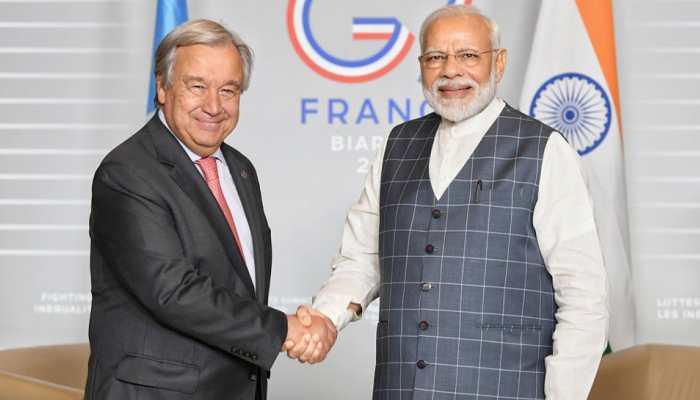 PM Modi meets UN Secretary-General Antonio Guterres at G7 summit in France