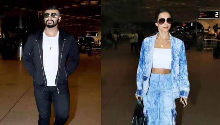 Arjun Kapoor-Malaika Arora leave for an undisclosed destination- See pics