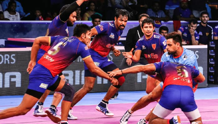 PKL 7: Naveen Kumar stars as Delhi beat UP Yoddha 36-27