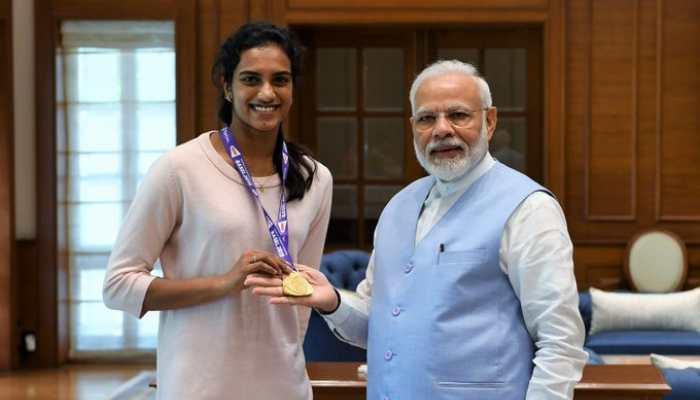 PM Narendra Modi meets 'India's pride' PV Sindhu after historic BWF World Championships gold