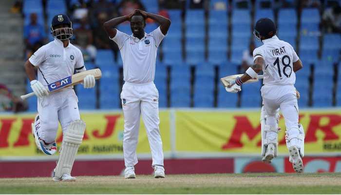 India post 264/5 on day 1 against West Indies; Kohli, Agarwal hit half-centuries