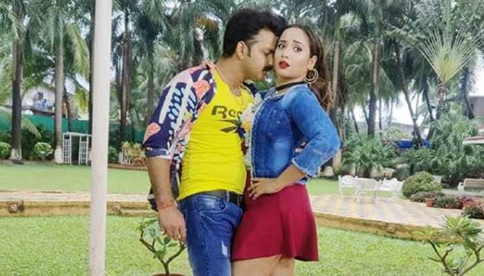 Rani Chatterjee shares a romantic picture with Pawan Singh from the sets of Boss
