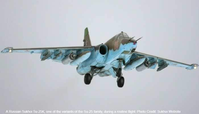 Sukhoi Su-25UB fighter-bomber of Russian Air Force crashes, search on for 2 pilots
