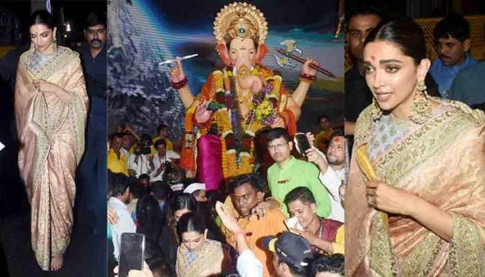 Deepika Padukone visits Lalbaugcha Raja for Ganpati darshan—Photos