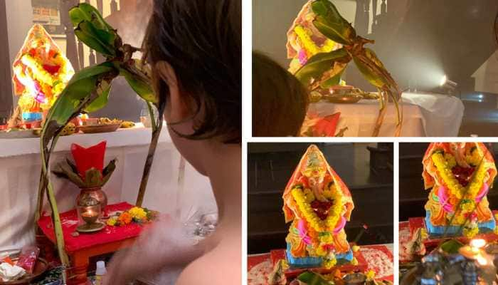 Shah Rukh Khan shares Ganpati pics from Mannat, wishes happiness for all—See inside