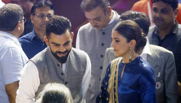 Anushka Sharma's adorable kiss on hubby Virat Kohli's hand at an event goes viral—Watch